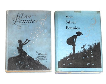 1925 1939 Silver Pennies Children's Books, Silver Pennies Books, Vintage Children's Books, Children's Poetry Books, NewYorkPaperTrail