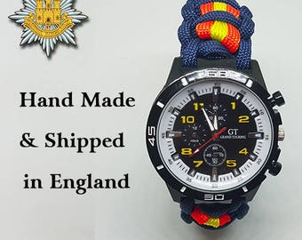 Royal Anglian Regiment Paracord Watch