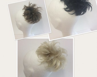 hairpiece extension Black blonde brown hairpieces scrunchie ponytail