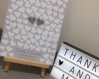 Alternative wedding guest book. Heart sign wedding guest book. Heart drop box alternative