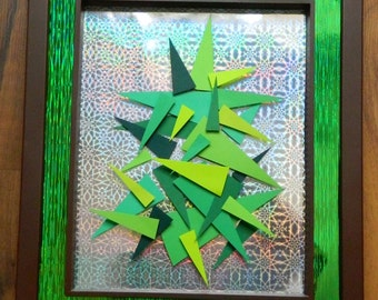 3D Paper Sculpture Sharp Tree