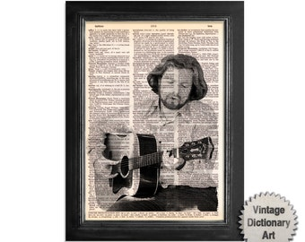 Van Morrison - The Musician Series - Printed on Vintage Dictionary Paper - 8x10.5