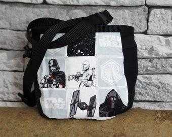 Star Wars Chalk Bag, Star Wars, Climbing Chalk Bag, Rock Climbing Chalk Bag, Rock Climber Gift, Black, White