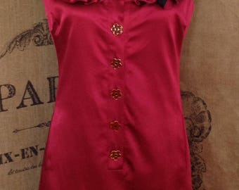 Betsey Johnson dress, red sleeveless scoop neck dress