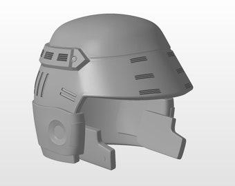 Starship Troopers Mobile Infrantry MI Helmet 3D Printable Print Files