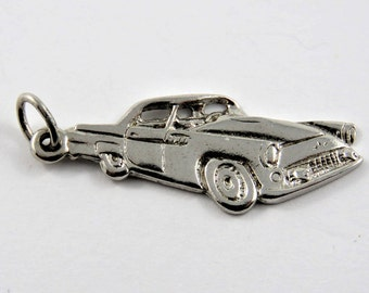 Sports Car from the 60's Sterling Silver Charm or Pendant.