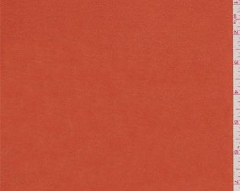 Deep Orange Charmeuse, Fabric By The Yard