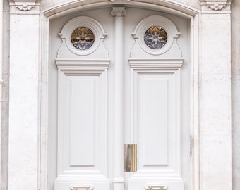 Paris Photography - Door Number 33, Travel Architecture Photography, Fine Art Photograph, Large Wall Art, French Home Decor