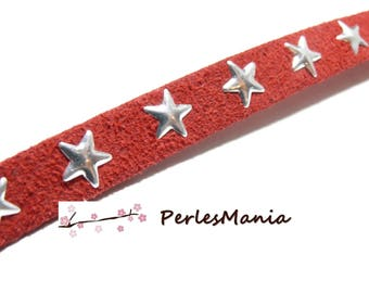 90cm with star rivets suede silver red GM H502 10 by 2mm, DIY
