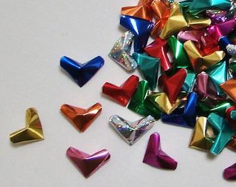Confetti Foil Mix : Small Origami Hearts (100)