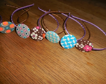 with 32 mm fabric button headband