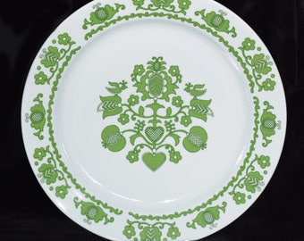 Retro Hungarian Folk Alfoldi Porcelain Wall Plate 24cm