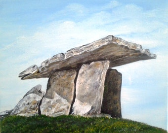 I love to paint Dolmens.   This one is from the Burren, Co Clare.  Ireland.