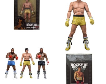 """Rocky Balboa (Gold Trunks) ROCKY 3 Series 1 Neca The 40th Anniversary 2017 7"""" Inch Action FIGURE"""