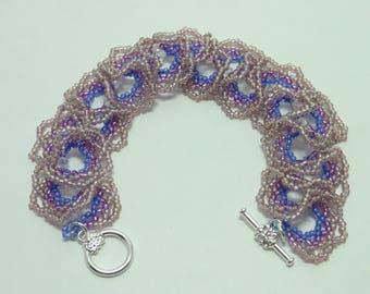 Beautiful Bracelet, Purple to Pink Bracelet, Ogalala Bracelet, Handmade Bracelet,