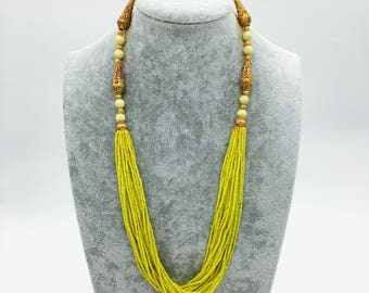 Colorful Yellow Jasper Necklace