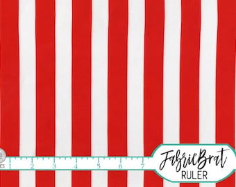 RED & WHITE STRIPE Fabric by the Yard Fat Quarter Large Red Stripe Fabric Red Fabric Apparel Fabric Quilting Fabric 100% Cotton Fabric a3-42