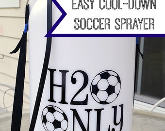 H2O Only (Water Only) Vinyl Decal for Soccer Tank Sprayer