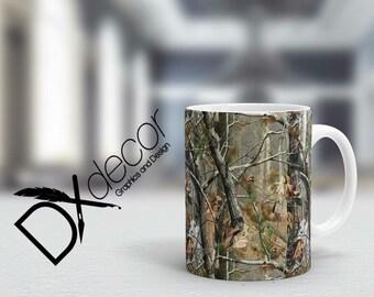 Camouflage Coffee Mug, Camo Mug, 11 oz and 15 oz Cups, Coffee Mugs, Muddy Girl Coffee Mug