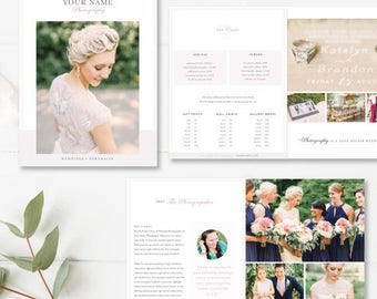INDESIGN Wedding Magazine Template, Photography Wedding Guide, Digital Wedding Photography Marketing Templates, INSTANT DOWNLOAD!