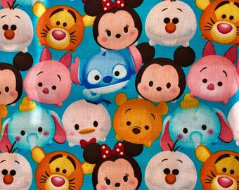 Disney Tsum Tsum Fabric By The Yard Featuring Various Characters
