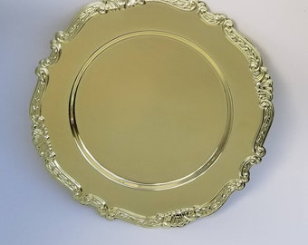 Gold Charger Plates/Servers by Davco Silver LTD~Set of 4~ Baroque Style