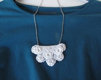 Vintage Crocheted Doily Necklace