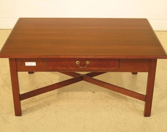 43006E: ETHAN ALLEN 1 Drawer Cherry American Classics Coffee Table