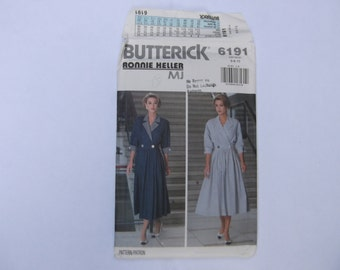 Pattern butterick 6191 ronnie heller dress size 6-8-10 unused