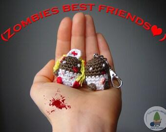 Zombie best friends nurse and patient crochet