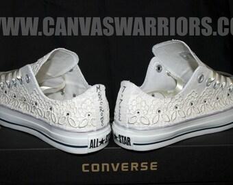 Custom Vintage Lace Wedding Converse