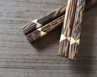 Palm Wood Chopsticks Hairpin Unique Design & High Quality 100% Handmade