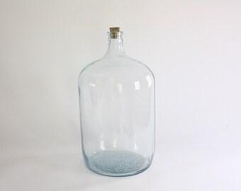 Large Vintage Glass Carboy, Demi John, Bottle, Vase