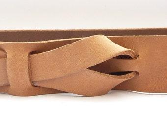 Safari Outback Brown, Brown Leather Belt, Leather Belt, Muse Belt 1-1/4 inch