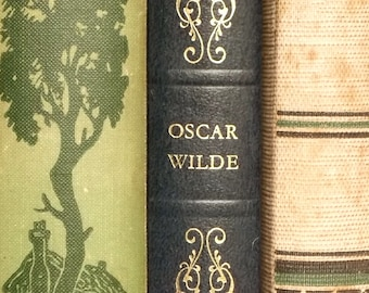 Oscar Wilde novel The Picture of Dorian Gray and other stories vintage book, faux leather book in dark blue,