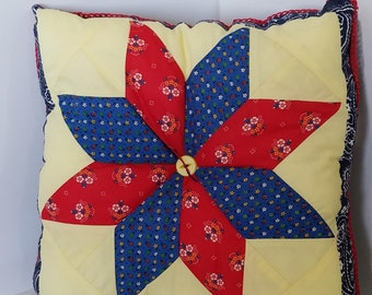 Star Quilt patterned pillow