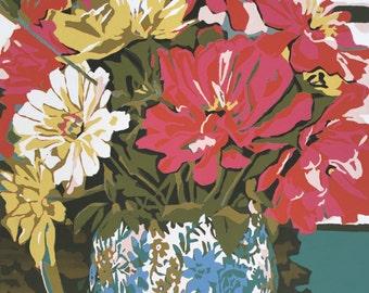 Chintz Jug, original silkscreen from a small edition