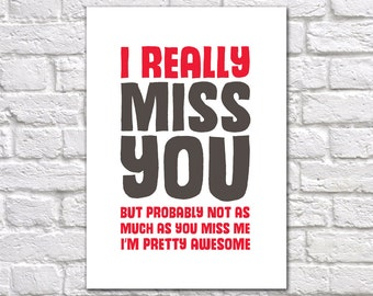 Funny Miss You Card | I'm Missing You Card | Miss You Card For Boyfriend | Husband Miss You Card | Miss You Card With Attitude