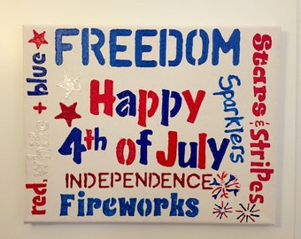 4th of July Subway Art Decor