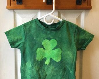 Kinder Kleeblatt Shirt, St. Patricks Day Shirt, Mädchen Shamrock Shirt, jungen Shamrock Hemd, Kurzarm-Shamrock-Shirt (3 t)