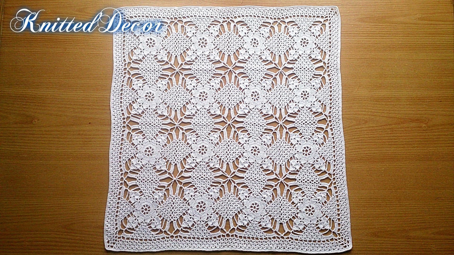 Crochet Square Doily Tutorial Lace Tablecloth Pattern Crochet ...