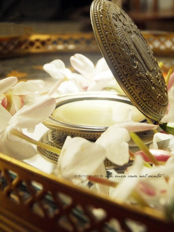 "Single note ""Enfleurage of Jasmine"" Botanical Solid Perfume Locket"