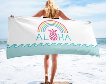 Aloha Rainbow Pineapple Towel