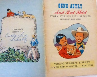 Rescued Vintage Children's Book Gene Autry and Red Shirt by Elizabeth Beecher