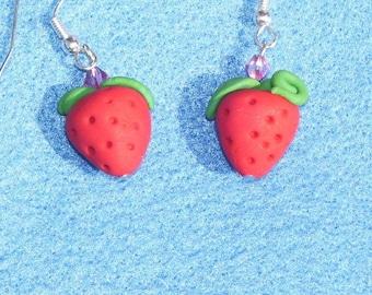 Strawberry delight earrings