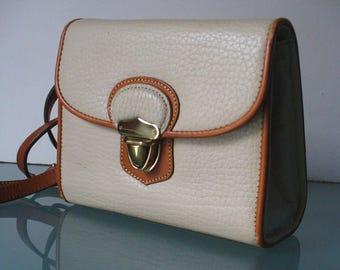 Vintage White Dooney&Bourke All Weather Shoulder Bag Purse