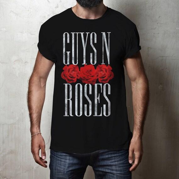 Guys 'N Roses / Guns 'N Roses pun | Unisex T-shirt | Apparel | Women / Men Clothing | Personalized T-shirt | Graphic Tee | Gay pride