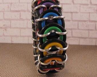 Vertebrae Bracelet - Beginner Rainbow Chain Maille Kit