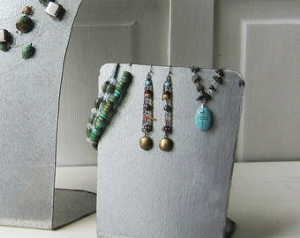 Metal Earring Display - Handmade from Galvanized Steel - Industrial Jewelry Display - Quantities Available Ready to Ship