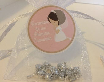 First Communion Rosaries favor, Mini Rosary Baptism, First Communion Party Favor, Baptism favor, Christening favor, Confirmation, set of 12